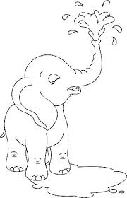 Coloring Pages Baby Elephants Littapescom