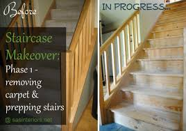 Carpet To Hardwood Stairs Staircase Makeover A New Diy Venture Begins Jenna Burger