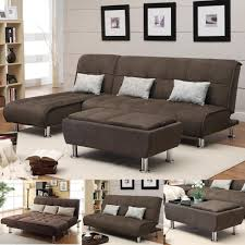 remarkable sectional sofa picture concept brown microfiber pc futon couch chaise small for essectional beds on