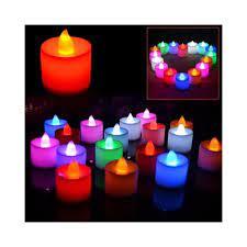LED Mum Led Işıklı Dumansız Pilli Mum 24 Adet Pil Dahil