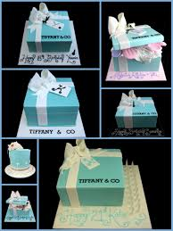 Gift Box Decoration Ideas Tiffany present box cake ideas Inspired By Michelle 85