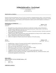 Cosy Resumes Administrative Assistant With Additional