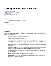 Luxury Ideas How To Make A Resume On Word 2007 3 An Easy Write