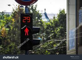 Pedestrian Light Crossing Red Light Traffic Light On Pedestrian Stock Photo Edit Now