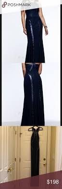 Faviana Gown Faviana Style 9365 Navy High Neck Glitter