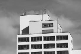 modern black white.  black hitam dan putih arsitektur kaki langit rumah jendela perspektif  bangunan kota pencakar menara with modern black white