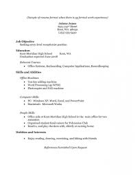 015 Free Resume Templates No Work Experience Good Template