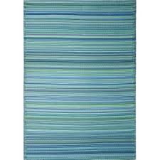 cancun outdoor rug in aqua 270x270cm