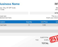 Document Template : Business Invoice Template Create A Sign Up Form ...
