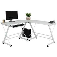 Image Annexe Corner Computer Office Desk Large Work Surface Workstation Shaped Saves Space Amazoncom Amazoncom Corner Computer Office Desk Large Work Surface