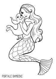 Disegni Di Sirene E Sirenette Da Stampare E Colorare Portale Bambini