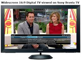 sony tv australia. sony bravia tv showing channel 7 digital tv australia