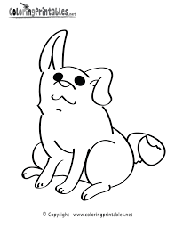Download or print this amazing coloring page: Puppy Coloring Page A Free Animal Coloring Printable