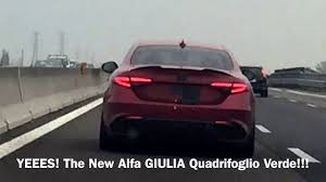 new car release april 2016New Alfa Romeo GIULIA QV running on the A1 before launch April