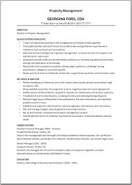 Gallery Of Property Manager Resume Example
