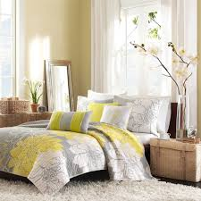 beautiful yellow and gray bedroom decor decorations for grey
