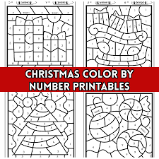Color pictures of santa claus, reindeer, christmas trees, festive you can find lots of printable pages here to decorate and give to your elf or reindeer. Christmas Color By Number Printables Crafty Morning