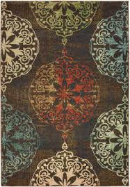 oriental weavers dawson 8522c brown multi area rug