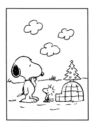 Small Picture Christmas Snoopy Coloring Pages Coloring Home