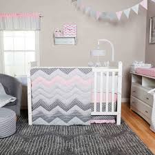 trend lab cotton candy chevron 3 pc crib bedding set