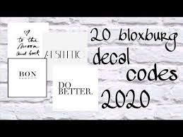 Maybe you would like to learn more about one of these? Roblox Bloxburg Aesthetic Decal Codes 2020 Youtube Bloxburg Decal Codes Calendar Decal Decal Design
