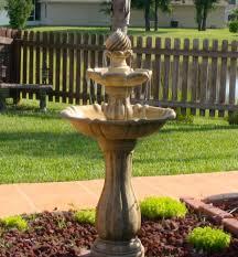 solar garden fountain 10 com kenroy home 50194ss arcade outdoor solar fountain