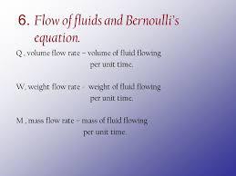 flow of fluids and bernoulli s equation