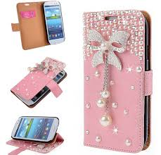 samsung galaxy s6 phone cases for girls. pink bling diamond 3d bow samsung galaxy s6 edge wallet case s7 s8 plus rhinestone phone cases for girls a