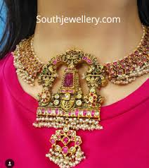 South Indian Traditional Gold Earrings Designs Traditional Gold Necklace With Rubies And Pearls Indian