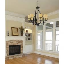 exciting kyle nine light black chandelier by quoizel for elegant family room lights design