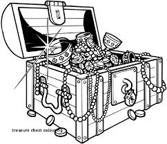 Treasure Chest Colouring 29 Treasure Chest Coloring Page Kids Coloring