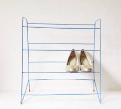Plastic Coated Wire Racks Vintage Shoe Rack 100s Plastic Coated Blue Wire Shoe Rack With Red 53