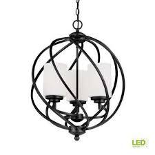 goliad 3 light blacksmith pendant with led bulbs