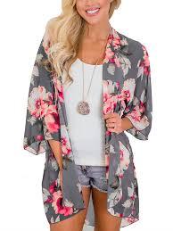 Colisha - Women Summer Chiffon <b>Kimono</b> Cardigans <b>Tops Boho</b> ...