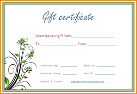 Customizable Gift Certificate Template Free Arts Arts