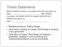 thesis statement for a descriptive narrative essay essay