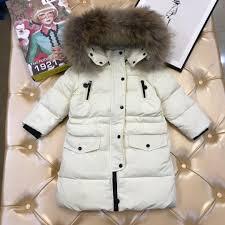 Kids Designer Coats Children Down Jacket Kids Designer Clothing Winter Fashion Long Down Jacket Fur Collar Hat Double Zipper Slim Design Coat Custom One Kid Reversible