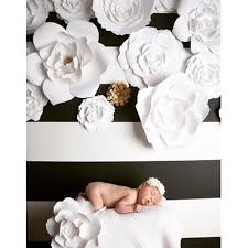 White Paper Flower Backdrop Paperflora Paper Flower Walls Backdrops And Home Decor