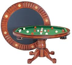 3 in 1 table round 54 w per pool antique walnut by berner billiards