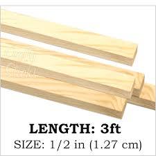 square wood dowel sticks 1 2