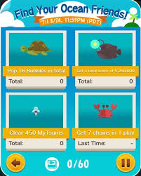 Tsum Exp Score Chart Tsum Tsum Mobile Game Find Your Ocean Friends Event Missions