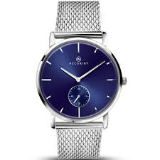 accurist men s silver mesh bracelet watch 7126 watches from accurist men 039 s silver mesh bracelet watch