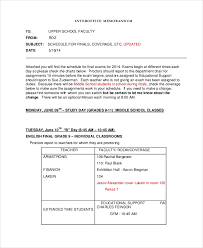 Memorandum Sample 16 Interof Ce Memorandum Examples Samples Examples