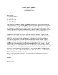 Download Cover Letter Template For Internship Examples Stunning