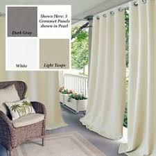 Dion Water Repellant Indoor Outdoor Grommet Curtain Panel