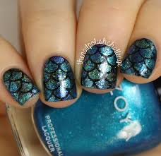 Mermaid Scale Nail Art + Whats Up Nails Vinyls   The Nail Polish ...