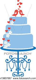 blue wedding cake clipart. Plain Wedding Clip Art  Wedding Cake With Birds Vector Fotosearch Search Clipart  Illustration To Blue Wedding Cake Clipart W