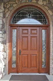 arched front doorTall Arched Front Door For Home With Wooden And Glass Combination