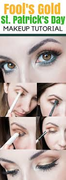 here s an easy but glam st patrick s day eyeshadow makeup tutorial perfect eyeshadow idea
