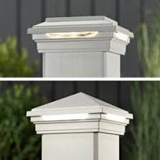 lighting for decks. give your deck a warm glow with trex post cap lights that are discreetly tucked lighting for decks